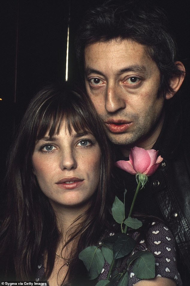 Her love: The icon, 73, who became a singer and actress, says it wasn't until her second marriage to Serge Gainsbourg that anyone told her she was beautiful  (Jane and Serge pictured in 1972)