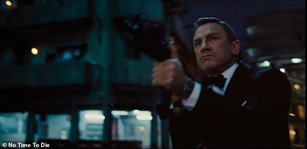 Back in action: The new trailer for No Time To Die, Daniel Craig's final outing as James Bond, was released on Thursday
