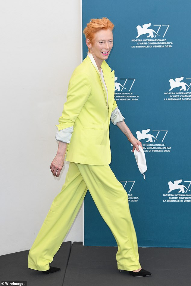 After picking up the festival's Lifetime Achievement Award earlier in the week, Tilda was busy promoting her short film