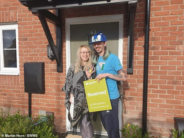 The couple had bought a new house (pictured) just days before the unexpected birth of their son Alexander