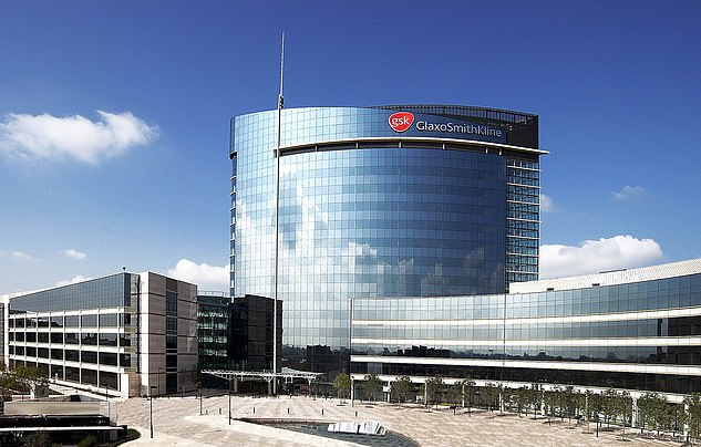 Roger Connor, president of GSK Vaccines (pictured: headquarters in London), said: 'We believe that this adjuvanted vaccine candidate has the potential to play a significant role in overcoming the Covid-19 pandemic, both in the UK and around the world'