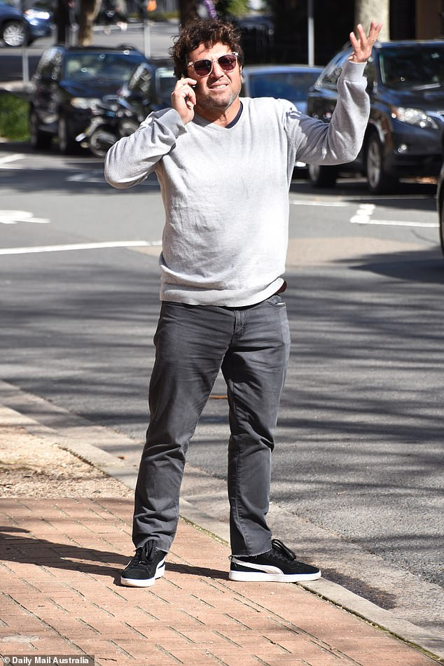 EXCLUSIVE! On Wednesday, former Married At First Sight star Nasser Sultan (pictured) looked tense when he was spotted talking on the phone in Sydney