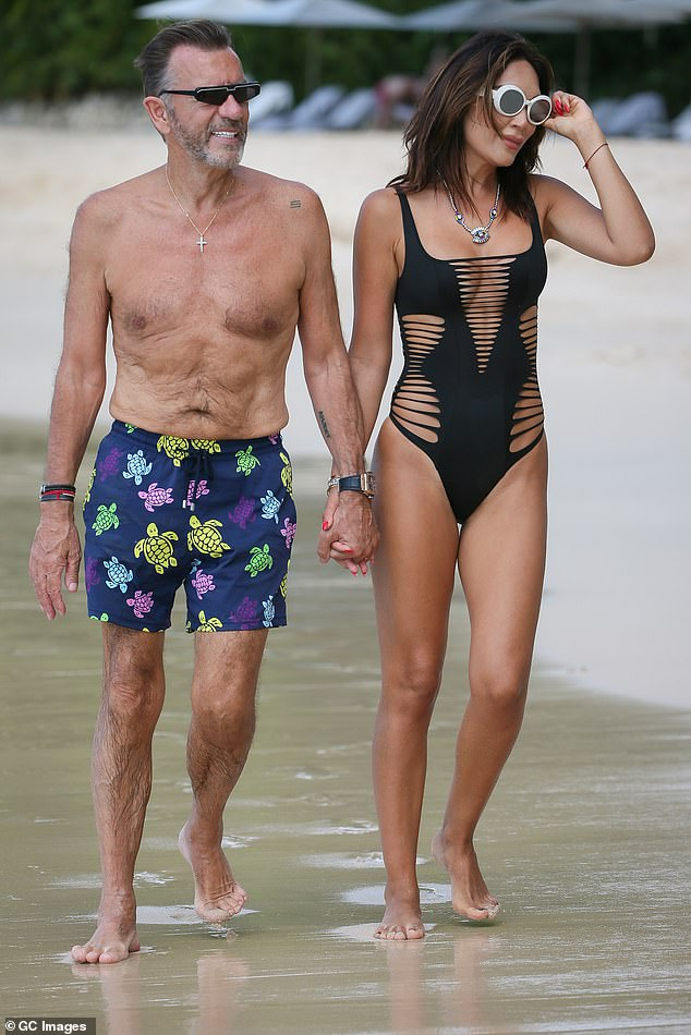 Married couple: Nigora, who married Duncan in Portugal in 2017, refused to stay at a three star hotel after branding it 'filthy and disgusting' (pictured in Barbados in 2019)