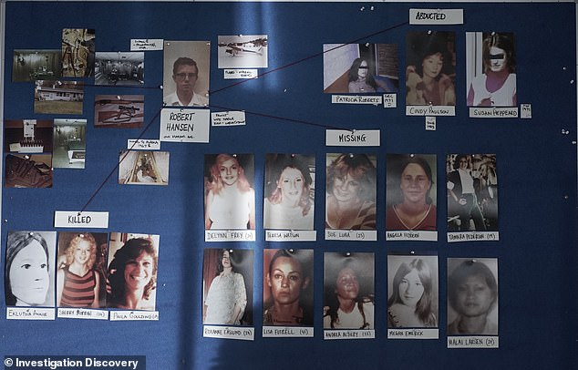The missing and murder map of Hansen's victims. The friendly neighborhood baker turned hunter of women would abduct, rape and torture women - mainly targeting topless dancers and sex workers - before killing some