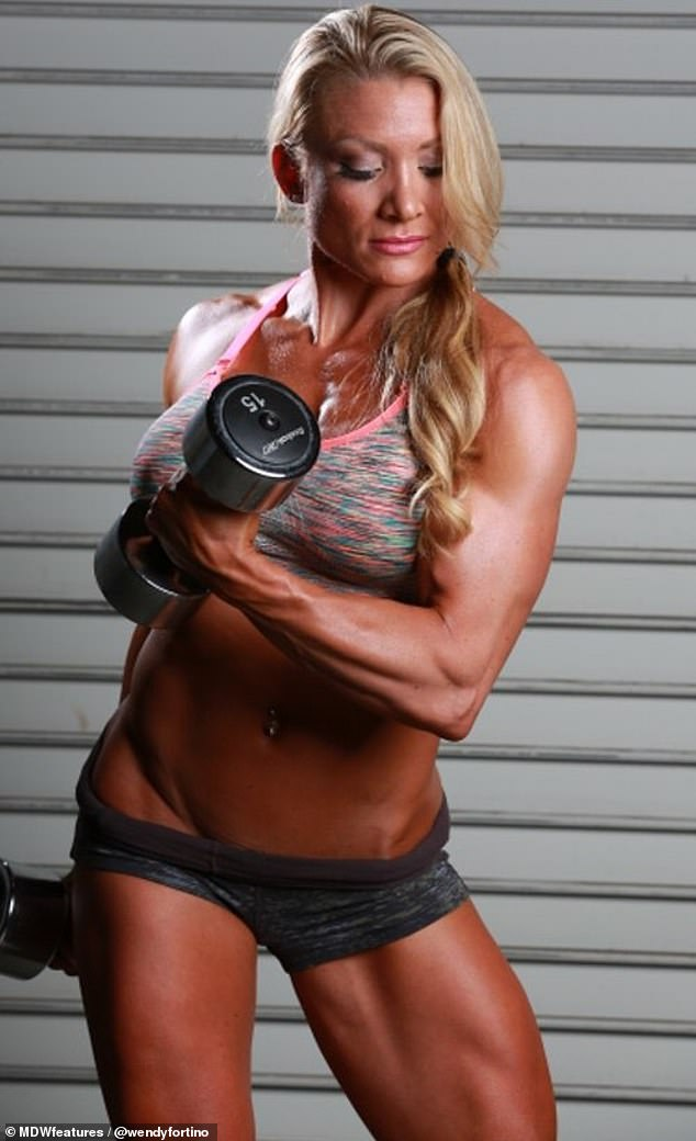 Powerful: The California resident started bodybuilding in 2008 and has since gone on to win numerous competitions