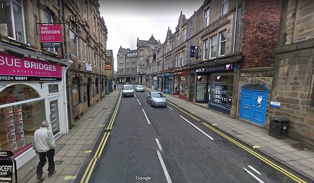 Last year a cash machine in Lancaster, pictured, dispensed two fake 'Twenty poond' notes