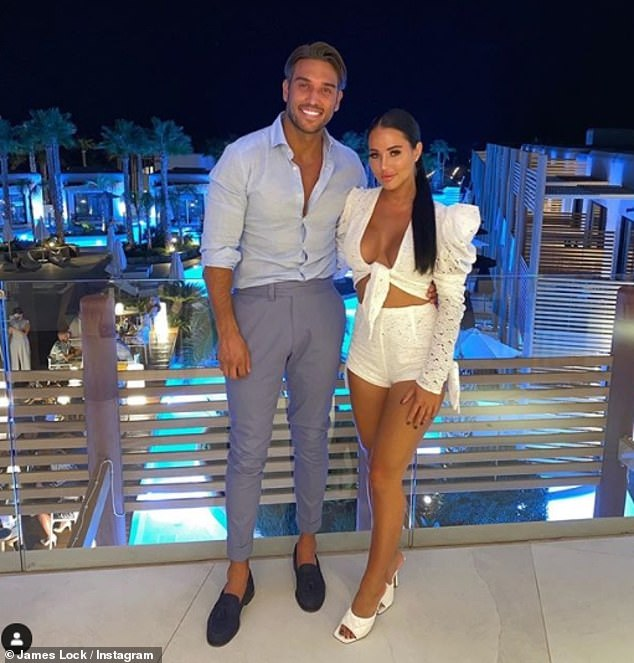 Holiday bliss: The pair reconnetced during a romantic getaway to Greece last month