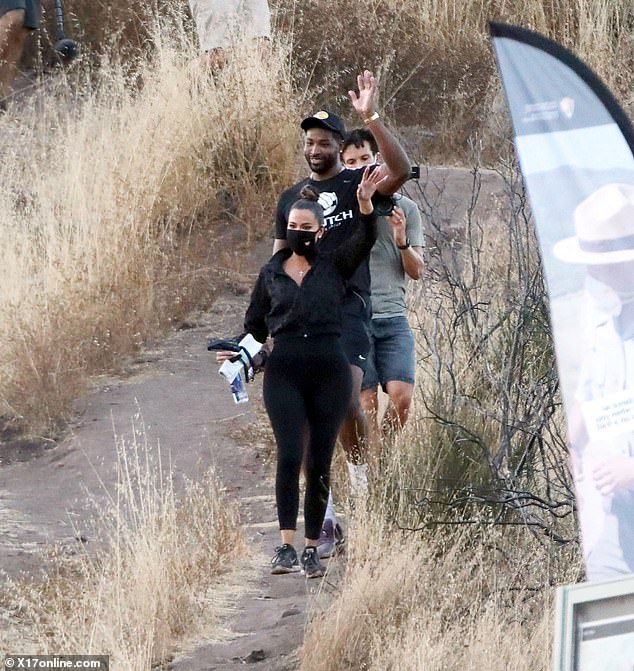So much fun:Their hike comes just a week after Scott appeared to confirm they romance was in fact back on