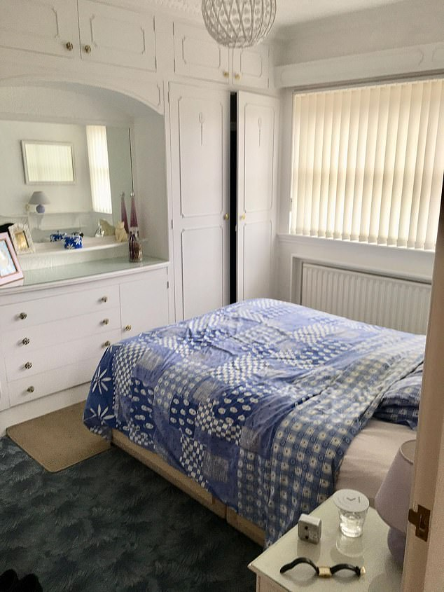 Before the room served as a standard bedroom with a mishmash of decor creating a chaotic space
