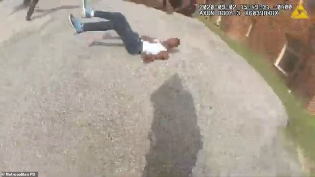 In an 11-minute redacted video, cops are seen chasing Kay near an apartment complex in southeast D.C. before cornering him with their weapons drawn