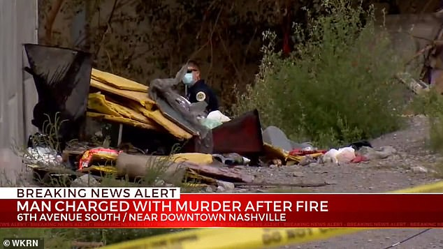 Nashville firefighters on Wednesday found the victim's burned remains at a homeless campin the 800 block of 6th Avenue South
