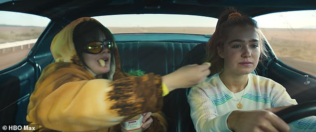 'Get ready for tears and laughs and all the good stuff in between!' In Emmy winner Rachel Lee Goldenberg's road trip buddy dramedy, Bailey helps drive her former BFF Veronica (R, Haley Lu Richardson) to an abortion clinic in New Mexico