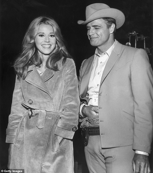 Co-stars: Asked for her take on Brando, Fonda simply said: 'Disappointing...' but she did give him credit for being 'a great actor.' The pair worked on 1966's The Chase together