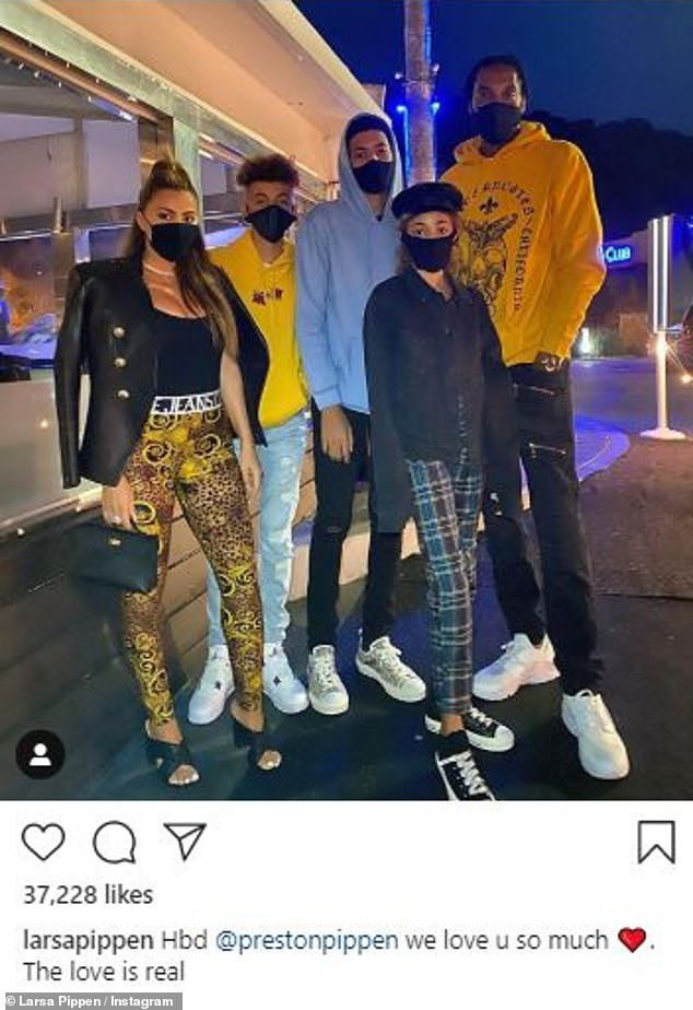 What's going on:Five days ago, Larsa shared a snap of herself with Scottie and three of their children in celebration of their son Preston's birthday
