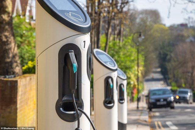 Both the SMMT and International Council on Clean Transportation has said the UK is currently way behind hitting its target for increasing the public charging infrastructure (Pic: Electric car charging station around Crouch End area on London street)