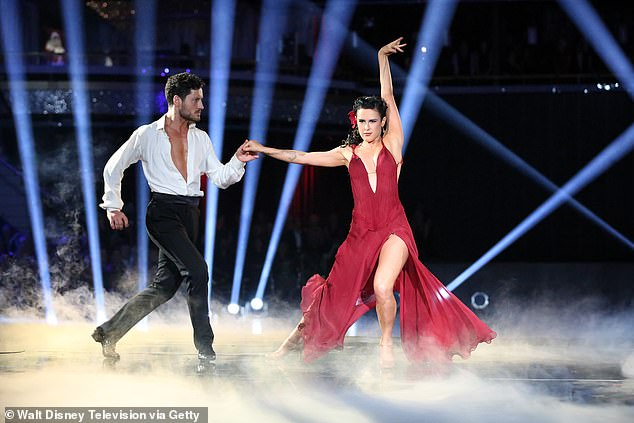 They've got the moves: She was also reportedly 'infatuated' with her 2015 Dancing With The Stars partner Val Chmerkovskiy, even allegedly getting a tattoo commemorating their partnership