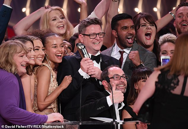 He's off! The executive producer admitted he feels it's 'the right' to step down ahead of the soap's 25th Anniversary this autumn (pictured at the British Soap Awards last year)