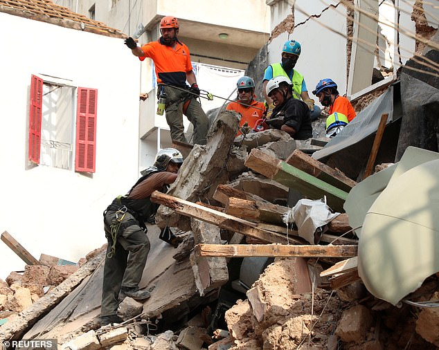 The team then used audio detection equipment for signals or heartbeat, and detected what could be a pulse of 18 to 19 beats per minute as they search the rubble