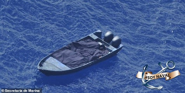 Mexico's Secretariat of the Navy said the military took part in the high speed pursuit of three individuals aboard a boat 84 miles off the coast of Mahahual, a fishing village in the state of Quintana Roo, on Tuesday. A total of 2,960 kilos of cocaine were seized