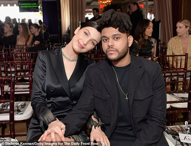 Friendly exes:Bella and The Weeknd (pictured in 2016)split up in August last year, blaming conflicting schedules, but an insider reveals to DailyMail.com they're on 'good terms'