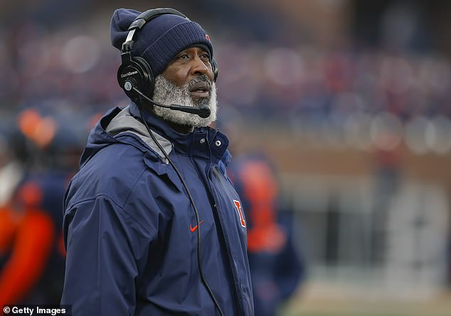 Lovie Smith, 62, is currently the head coach for the University of Illinois