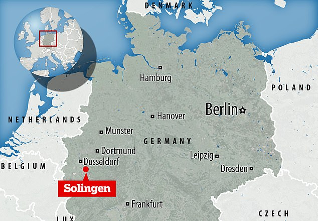 The bodies were discovered at an apartment building in Solingen, 20 miles from Cologne in western Germany