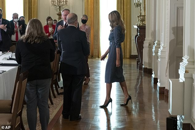 First Lady Melania Trump opened the event by noting the coronavirus pandemic has increased feelings of loneliness and sadness around the country