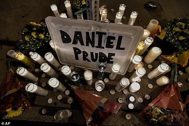 A makeshift memorial is seen, Wednesday, Sept. 2, 2020, in Rochester, New York