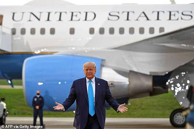 President Donald Trump on Thursday honed the 'law and order' message he intends to wield against his Democratic rival, Joe Biden