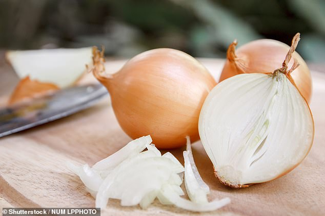 """'Try keeping the """"butt"""" on your onion. That end bit means there are minimal tears,' another person said (stock image)"""