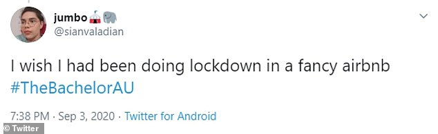 'I wish I had been doing lockdown in a fancy Airbnb!' joked another