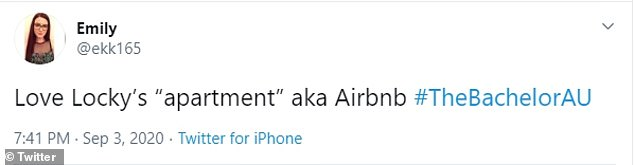 """'Love Locky's """"apartment"""" aka Airbnb,' joked one fan, who suspected that Locky wasn't filming in his real home"""