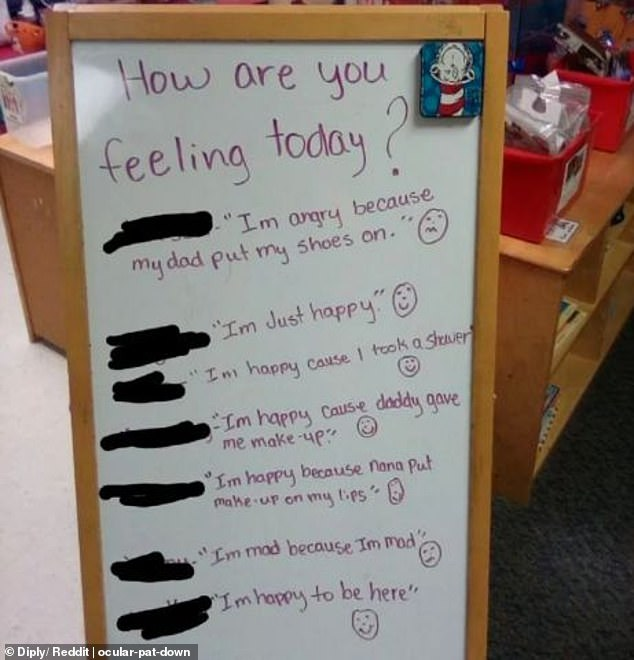 Honesty is the best policy! Students at a school believed to be in the US gave very detailed explanations for their emotions