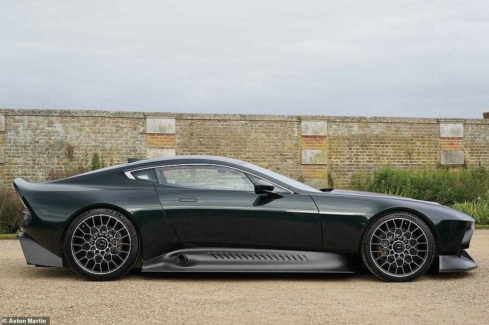 One-hit wonder: This is the Aston Martin Victor. A one-off road car revealed on Friday at the Concours of Elegance at Hampton Court Palace, London