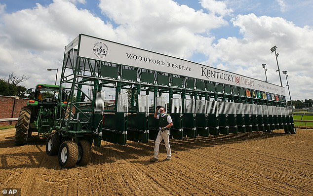 A new 20-horse starting gate, replacing a primary and auxiliary gate combination, will be used for the race. With the field down to 17 colts as of Thursday afternoon, Churchill Downs will leave the two inside gates and one outside gate empty -- something that likely would not have happened had the race been run on its customary first Saturday in May