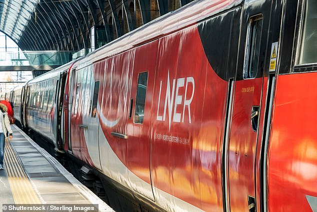 He lost his job during the pandemic. Pictured above is an LNER train pulling in to Leeds station