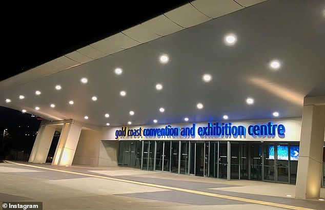 Instead of being held at the glitzy Crown Palladium in locked-down Melbourne, this year's ceremony will reportedly be a 'small-scale event' at the Gold Coast Convention and Exhibition Centre (pictured) in Queensland