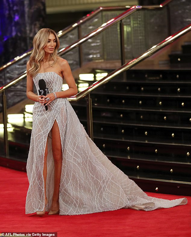Nadia Bartel is seen during the 2019 Kennedy Brownlow Red Carpet arrivals at Crown Palladium on September 23, 2019