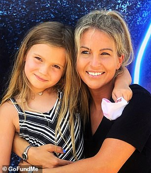Katie Wise is pictured with her daughter before the accident