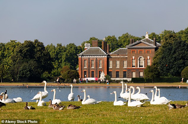 Overlooking one of London's most beautiful parks has many advantages for the residents of Kensington Palace (pictured)