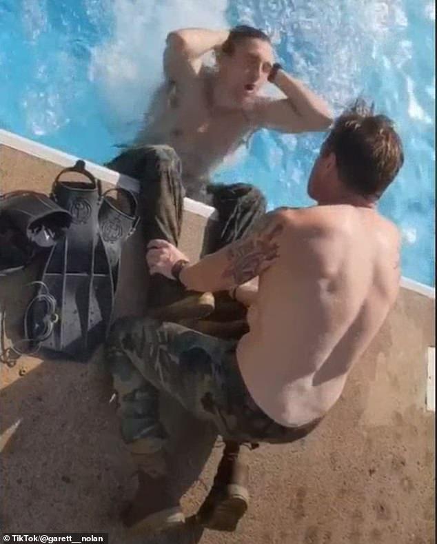 Nolan's videos often showing himself in full uniform or going through training