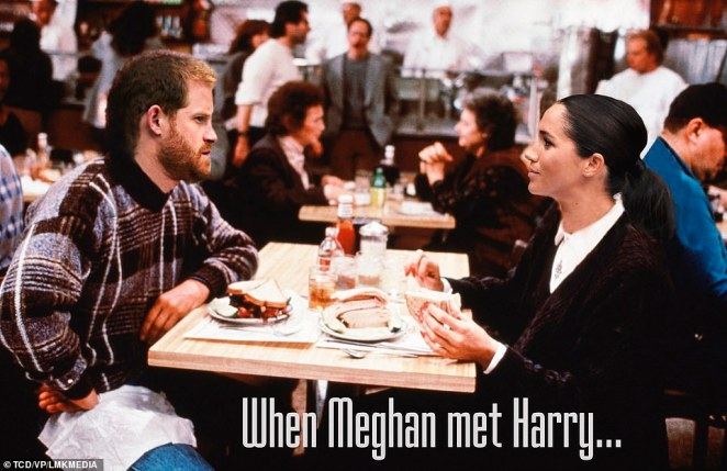 This romcom remake sees Harry and Meghan fall in love. On their first date at Soho House, Harry asserts that men and women cannot be friends as ¿the sex part always gets in the way¿. It includes the scene when, during a palace banquet, Meghan fakes an orgasm and Princess Anne hilariously comments: ¿I¿ll have what she¿s having!¿