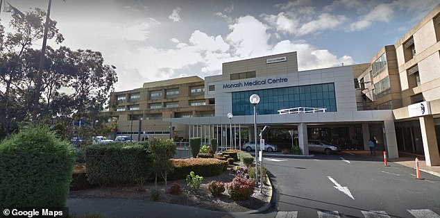 The boy is now fighting for life after being admitted to Monash Hospital (pictured) in Melbourne's southeast