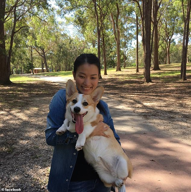 Carmen Pham from Labrador on the Gold Coast was heading to Vietnam and had asked family friends to looking after her pet corgi Haku until she returned (pictured together)