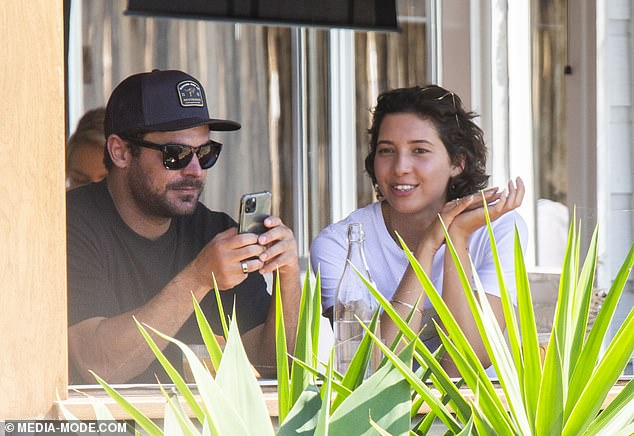 Something to tell us? On Saturday, Zac Efron and rumoured new girlfriend Vanessa Valladares stepped out for brunch in Lennox Head after their ski holiday