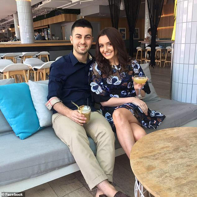 Ms Mastrofilippo has since started a petition to have restrictions placed on weddings in NSW lifted (pictured, with her husband-to-be)
