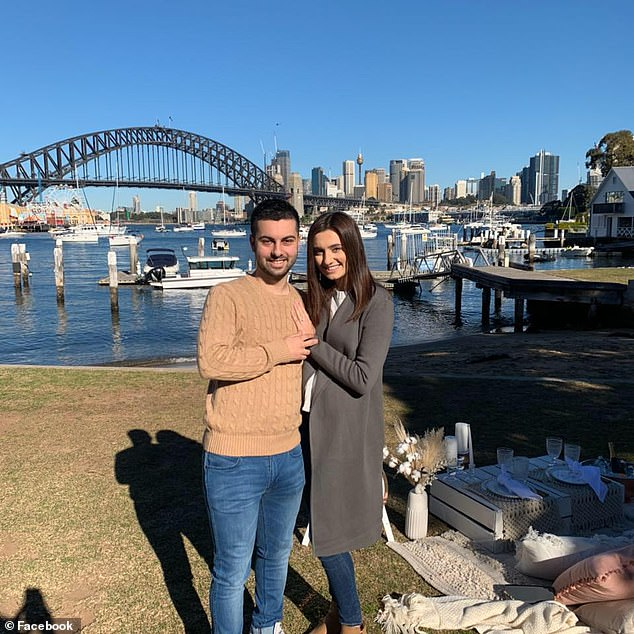Annalisa Mastrofilippo, 24, was due to marry her fiance Domenic Dileo (pictured together) in August this year but will now tie the knot next April