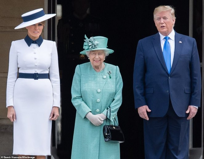 Mr Trump, who brought his wife Melania on the visit, was first invited for a formal state visit by the Queen in January 2017, but he did not take up the offer untilthe summer of 2019