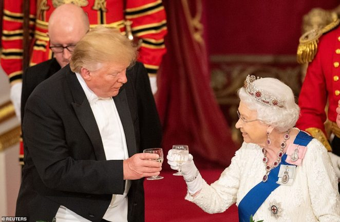 Donald Trump nearly threw the state visit into chaos after he openly disparaged Theresa May's Brexit deal during an interview