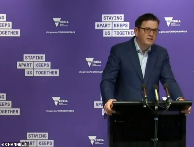 "Victorian Premier Daniel Andrews (pictured)  revealed the state's ""roadmap"" out of lockdown, due to be unveiled on Sunday, was still a work in progress"